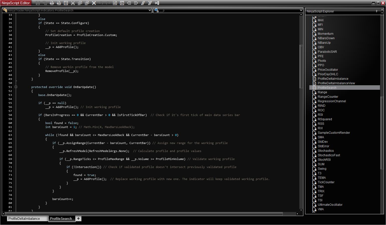 Building custom indicator or strategy in NinjaTrader – MZpack