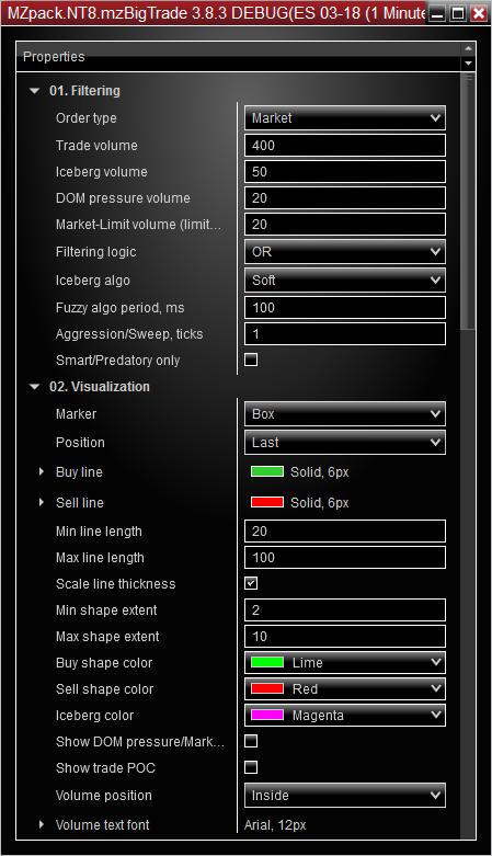 BigTrade NinjaTrader Indicator – MZpack